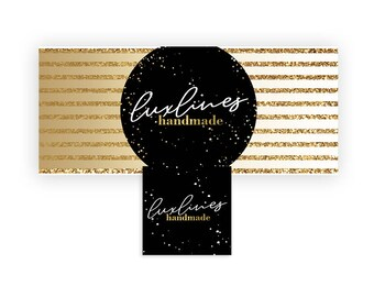 Gold Luxury Facebook Banner | Beauty Business Facebook Page Cover in Gold Glitter and Black