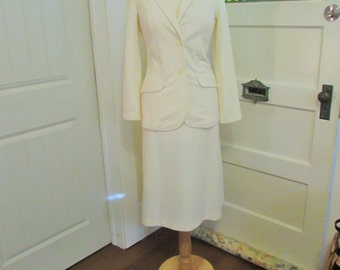 vintage Sears skirt suit, xxs made in Canada