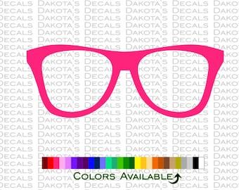 Nerd Glasses Decal