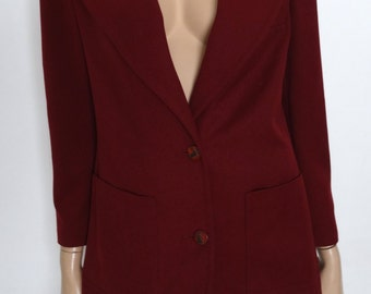 Vintage Burgundy jacket size 38 - us 6 - 10 uk