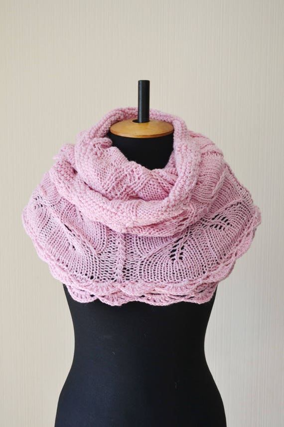 on pink soliknits light pin etsy scarf by in my infinity get