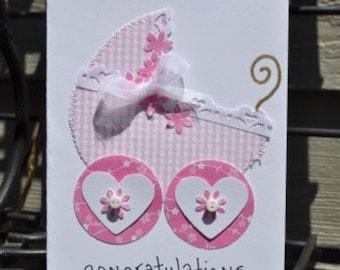 Baby Girl Greeting Card      Congratulations