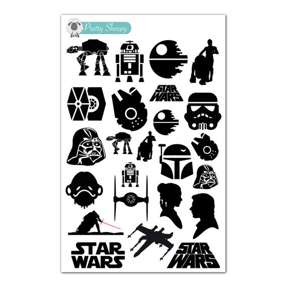 Star Wars Silhouette Stickers Disney Planner Stickers