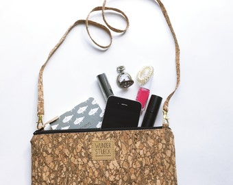 Cork clutch from Korkstoff with glitter effect