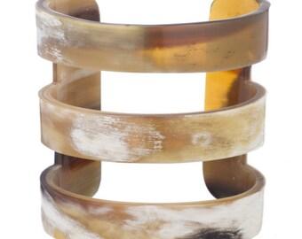Buffalo Horn Bracelet - Horn Cuff Bracelet Handmade Jewelry -VT021
