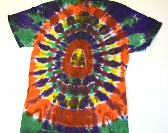 Cosmic Vision ~ Spiral Tie Dye T-Shirt (Fruit of the Loom Size S) (One of a Kind)