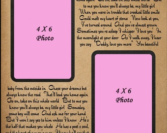 My Little Girl / Personalized Gift for Dad / Father Of The Bride Personalized Wedding Picture Frame Father Daughter Dance / Christmas Gift