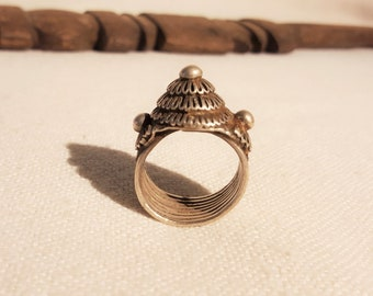 old silver laos ring