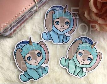 PomPom-Bunny Die Cuts Unicorn Hoodie
