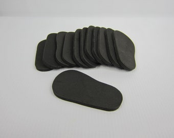 "5mm Doll Soles, 12-Pack Doll Soles, 5mm Black Foam Doll shoe Soles, 18"" die cut doll soles, doll supplies, shoe supplies, free shipping"