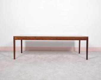 Danish Rosewood Rectangular Coffee Table, 1960s