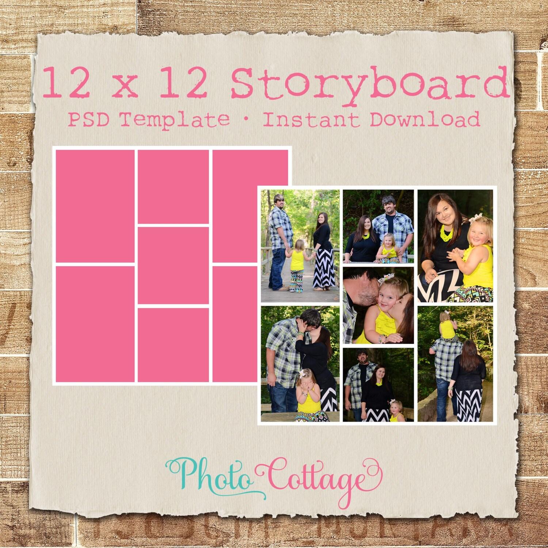 30x30cm Fotografie Storyboard Vorlage digitale Collage