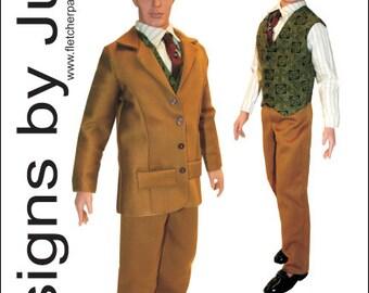 PDF Gentleman's Suit Pattern for Trent Osborne Dolls Odum JamieShow