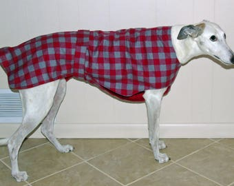 P15 Buffalo Plaid - Red Gray Greyhound Jammie.