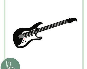 Electric Guitar SVG File