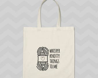 tote bag, knitting project bag, gift for her, knit tote, funny tote, mothers day gift, gift for knitters, project bag, gifts for crocheters