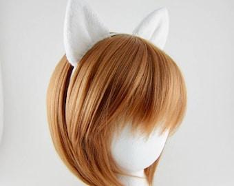 White Wolf Ears Headband Arctic Fox Ears Costume Headband
