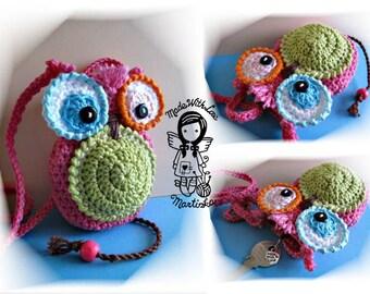 Crochet PATTERN, Key Case My Little Owl, Toy,  DIY Pattern 5