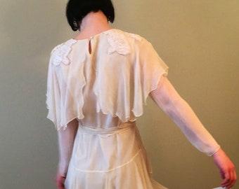 1980 elegant Silk Flapper inspired Dress