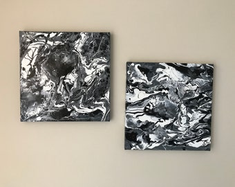 Abstract Painting. BLACK and WHITE IMAGE.