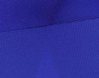 Royal Blue Grosgrain Ribbon Solid- Choose Width / Length