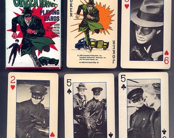 Original 1966 GREEN HORNET Playing Cards w/ Action Pics