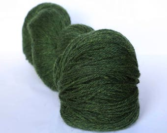 KAUNI Undyed Wool Yarn, Worsted Weight 8/3  3ply, 100% wool Green