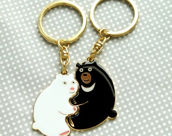 Perfect Together Key Ring- Polar Bear and Formosan Black Bear