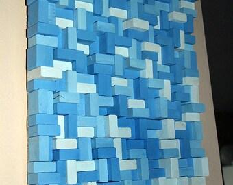 Rustic Wood wall Art, wood wall sculpture, abstract wood art, Modern Wall Art, Wood wall Art, wood mosaic, Reclaimed wood
