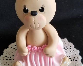 Bears Cake Topper, Twins Bear Toppers, Baby Girl Bear, Cake Topper, Teddy Bear Baby Shower, Pink Bear Cake Topper, Bear for Cake, Girly Bear
