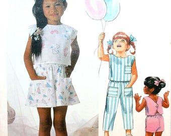 Child's - Girl's - Top - Pants - Shorts - Culotte - Sewing Pattern - Simplicity 2362 - New - Uncut - Size 5