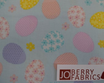 Easter Eggs from the Love Bunny Collection by Greta Lynn for Kanvas with Benartex, Fabric by the Yard, JoBerry Fabrics.