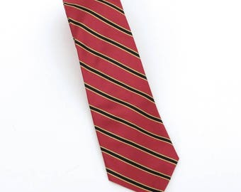 1980's vintage Samuel J. Miller/The Country Squire striped silk repp neck tie