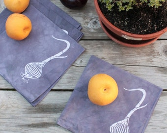 purple onions napkins. made to order