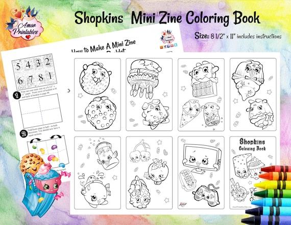 Shopkins Mini Coloring Pages Zine