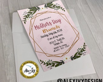Mothers Day Brunch Invitation