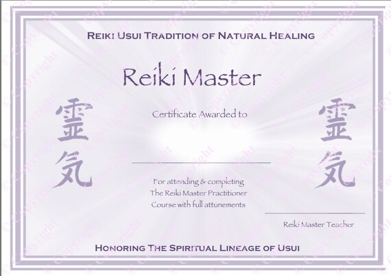 Download complete set reiki certificate templates x4 yelopaper Choice Image