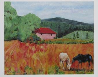 wall art - Mountain Meadow - Giclée print