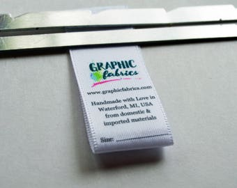 """7/8"""" Fold Over Care Labels"""