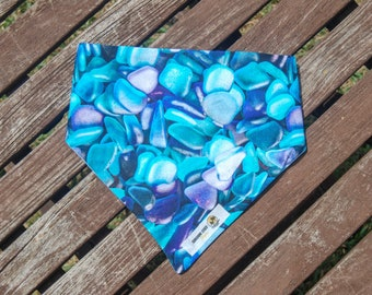 Shells and Stones double sided cotton bandana