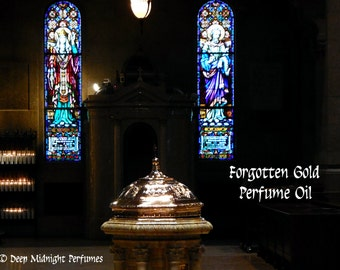 Forgotten Gold™ Perfume Oil - Sweet Frankincense, Myrrh, Benzoin, Copal, Cedar, Clove - Ancient Incense Perfume Oil