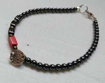 Pulsera con mariquita mini /Ladybird  lady bugs minin bracelet