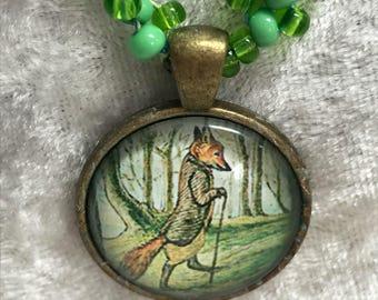 Mister Fox gewebte Halskette