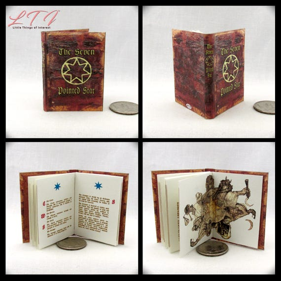 The SEVEN POINTED STAR 1:6 Scale Book Readable Miniature Book Game of Thrones Phicen 1/6