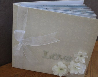Wedding Album Premade 12x12  Scrapbook Album with 20 Pages-  Hot Cocoa Photo Books