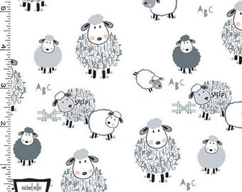 MINKY Alpha Sheep From Michael Miller's Minky Collection