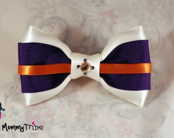MommyTribe Bow Tie: Custom Bowtie - Classy Wedding Ivory Bow Tie with Swarovski Crystals, Wedding Bow Tie (Custom Order)