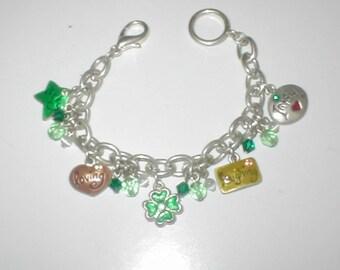 Vintage IRISH theme Charm Bracelet