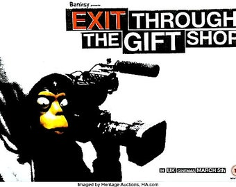 BANKSY - 'Exit through the gift shop' - original limited edition film poster - very rare (Street art)