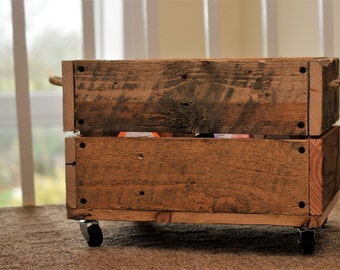 Wooden Crate - Rustic Crate - Rustic Wooden Box - recycled upcycled repurposed - Reclaimed Wooden Box - Pallet Crate -  Handmade Crate